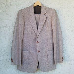 Highlander Vintage Tailored Wool Tweed 3Pc Suit